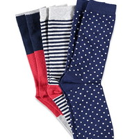 Patterned Crew Sock Set