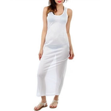 Mesh Jersey Maxi Beach Cover-Up