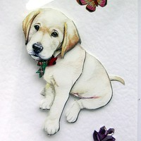 Labrador Puppy Hand-Crafted 3D Deco.. on Luulla