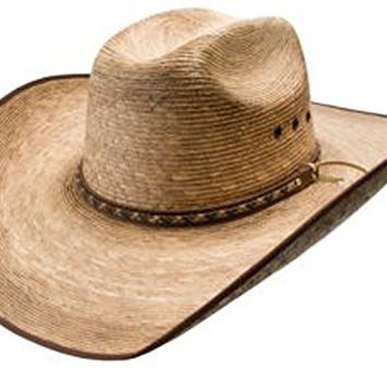 Resistol Burned Brady Genuine Mexican Palm Cowboy Hat