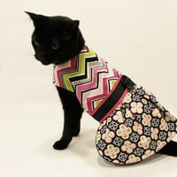 Cat Dress Chevron Moroccan Print Cat Dress pet clothing cat clothes pet clothes cat apparel