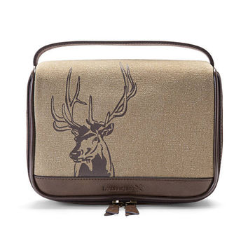Deer Zip Around TRAVEL KIT•Personalized Dopp Kit•Mens Leather Shave Kit•Gifts For Him•Mens Toiletry Bag•Groomsmen Gift•Anniversary Gift