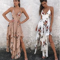 Monique Floral Empire Maxi Dress