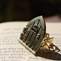 Hobbit Door Lord of The Rings LOTR Nerd Ring Frodo Baggins Fantasy The Shire Geek Nerd Hipster Fangirl Bag End Fellowship Tolkien