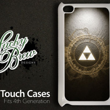 iPod Touch Case Cover - Legend of Zelda Triforce Art - 4 Gen Cover