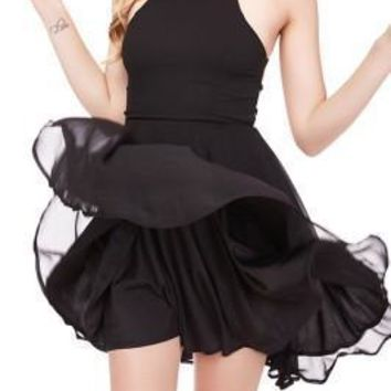 Frisky Back Lace Up Short Black Prom Dresses Skater