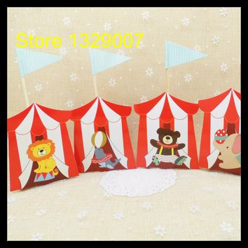 pcs  Animal  Candy  Boxes  Carnie  Circus  Themed