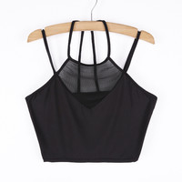 Rebel Mesh Crop Top