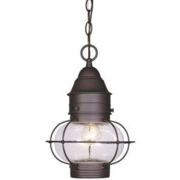 Cordelia Lighting Hanging Outdoor Polished Brass 10 in. Lantern-8224-01 at The Home Depot