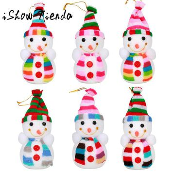 6pcs/set Christmas Snowman Ornaments Doll Christmas Tree Pendant Snowman Gift Kerst Decoratie Christmas Decorations for Home
