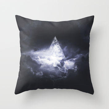 Girl Giza Throw Pillow by HappyMelvin