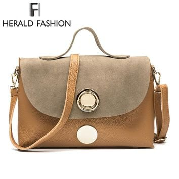 Paneled Women Handbags High Quality Frosted PU Leather Shoulder Bag Causal Tote Bag Solid Lady's Cross Body Bags