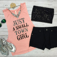 Small Town Girl Tank: Pink