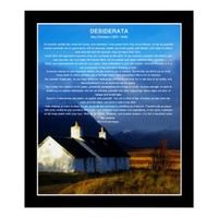 Desiderata poem moorland cottage posters from Zazzle.com