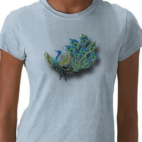 Dancing Peacock T-shirts from Zazzle.com