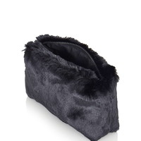 Faux Fur Zip Make Up Bag - Topshop