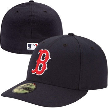 New Era Boston Red Sox Low Crown AC 59FIFTY On-Field Fitted Performance Hat - Navy Blue