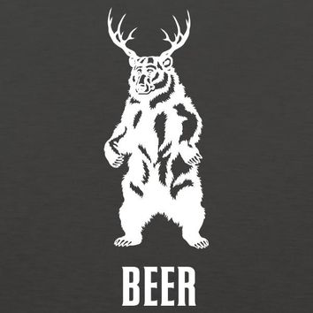 Bear + Deer = BEER MENS T-Shirt