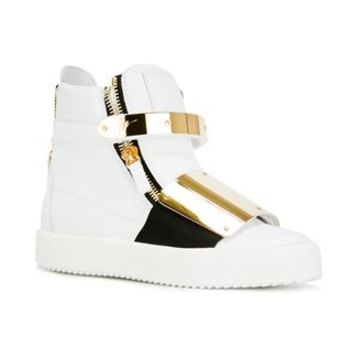 Giuseppe Zanotti Design Zip Detail Hi-top Sneakers - Elite - Farfetch.com