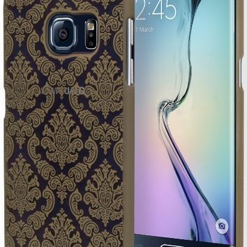 Galaxy S6 Edge Phone Case, Bastex Hard Protective Gold Damask Design Case Cover for Samsung Galaxy S6 Edge G928