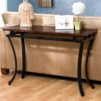 Traditional Console Table Living Room Furniture Espresso And Bold Black Finish