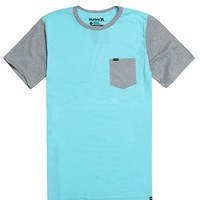 Hurley Oscar Triblend Pocket T-Shirt - Mens Tee - Blue