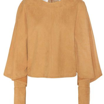 Olivia faux suede top