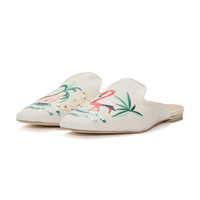 MAYPOL Flamingo Embroidery Sequin Mules