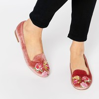 ASOS MYLO Embroidered Flat Shoes at asos.com