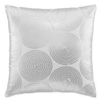 kate spade new york Confetti Square Throw Pillow in Silver