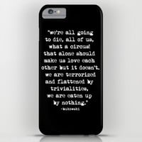 Charles Bukowski Typewriter White Font Quote Circus iPhone & iPod Case by Fligo