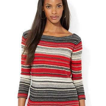 Lauren Ralph Lauren Striped Boatneck Tunic