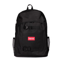 Supreme Canvas Backpack Travel Bag College School Bag