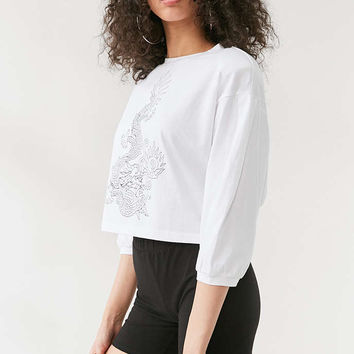 Silence + Noise Tattoo Dragon Long-Sleeve Top - Urban Outfitters