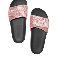 Crossover Velvet Slides - PINK - Victoria's Secret