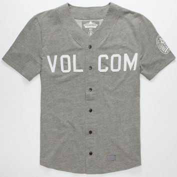 Volcom Sheckler Mens Baseball Jersey Grey  In Sizes