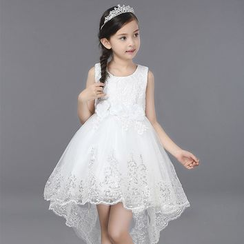 Girls Dress Summer Clothes Girls 2017 Baby Girls Wedding Veil Dresses Kids Party Wear Costume For Kids Children Clothing Pageant