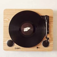 Ion Pro Sound USB Vinyl Record Player - Brown One