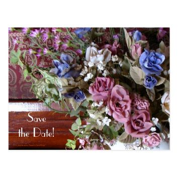 Save the Date 75th Birthday Party Floral Postcard
