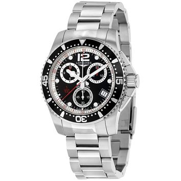 Longines HydroConquest Chronograph Black Dial Mens Watch L37434566