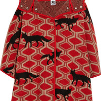 M Missoni - Little Red Riding Hood oversized intarsia wool cape