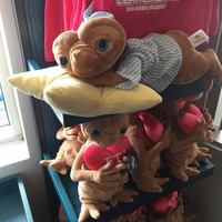 """universal studios 21"""" E.T. bed time with pillow plush toy new with tags"""