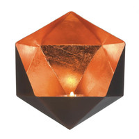 Geometric Candle Wall Sconce - Copper