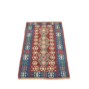 "Turkish Kilim Turkish 6' 0"" X 8' 10"" Handmade Rug"