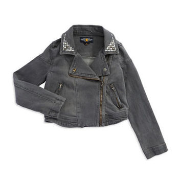 Lucky Brand Girls 7-16 Asymmetrical Denim Jacket