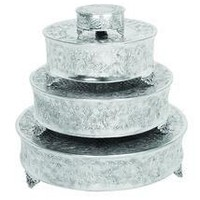 Aluminum Cake Stand Set Of 4 For Stylish Host dummy