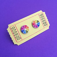Enamel Colorwheel Stud Earrings