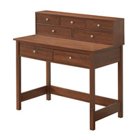 Techni Mobili Elegant Desk/Hall Table with Storage - Oak