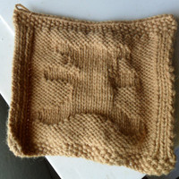 Teddy bear wash cloth, brown wash cloth, bear wash cloth, dish cloth,  hand knit wash cloth (1)