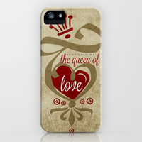 The Queen of Love iPhone Case by Susan Weller | Society6